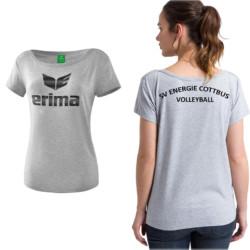 [sve-teamwear] ERIMA – ESSENTIAL T-SHIRT GRAU-SCHWARZ – SV ENERGIE COTTBUS VOLLEYBALL – DAMEN3